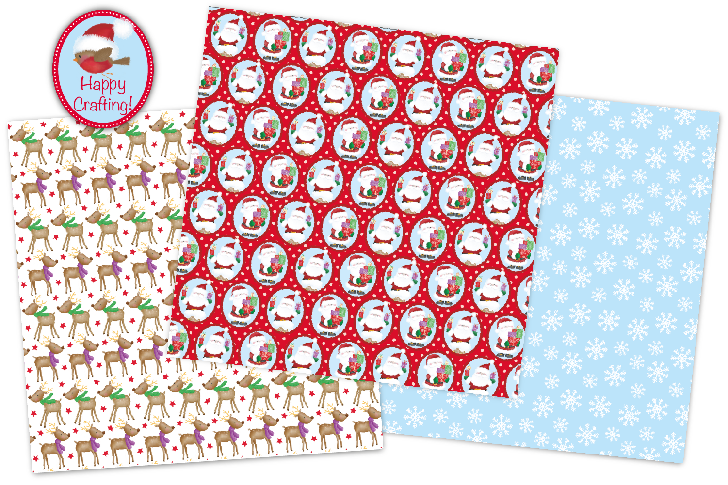 Christmas digital papers, Christmas patterns, Santa papers example image 5