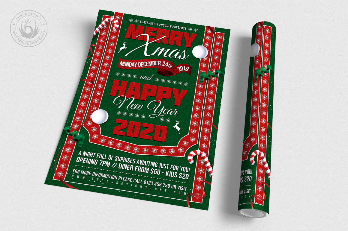 Christmas Eve Flyer Template V10 example image 3