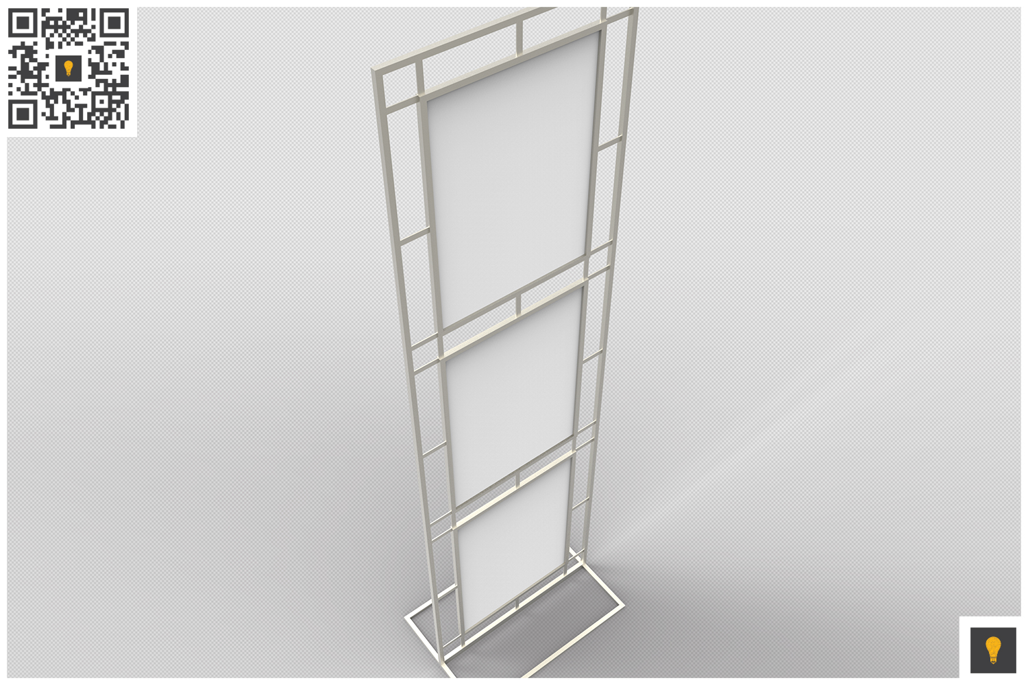 Poster Stand Display 3D Render example image 6