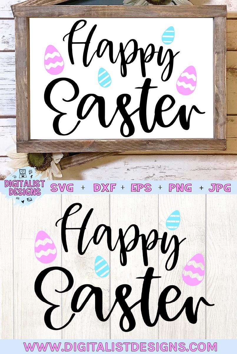happy easter svg, easter egg svg, easter decor svg example image 2
