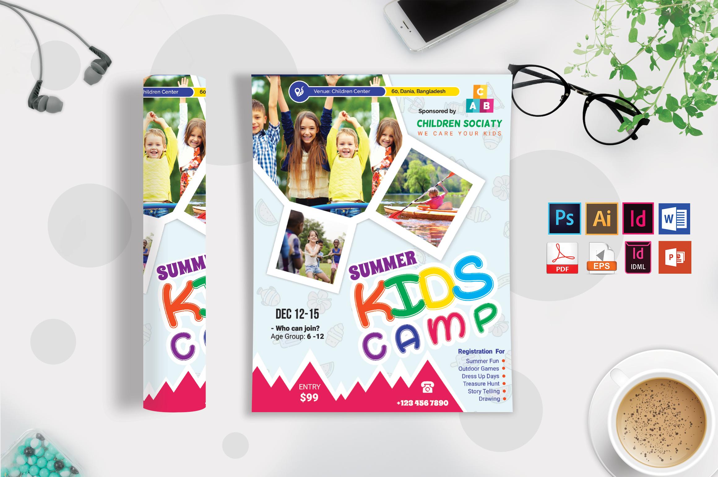 Kids Summer Camp Flyer Vol-05 example image 3