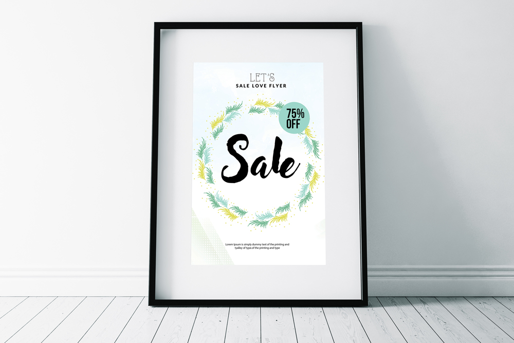 Sale Typography Poster/ Flyer example image 3