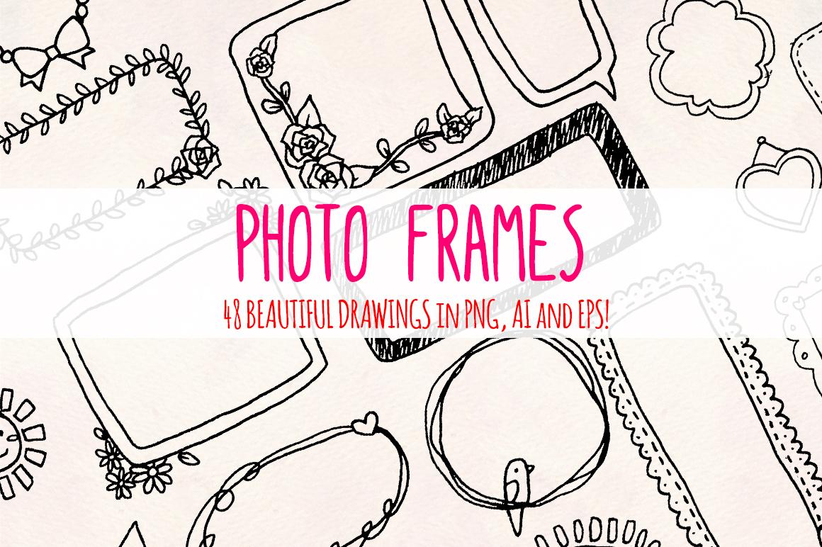 48 Photo Frames Planner Edges - Graphics Bundle example image 2