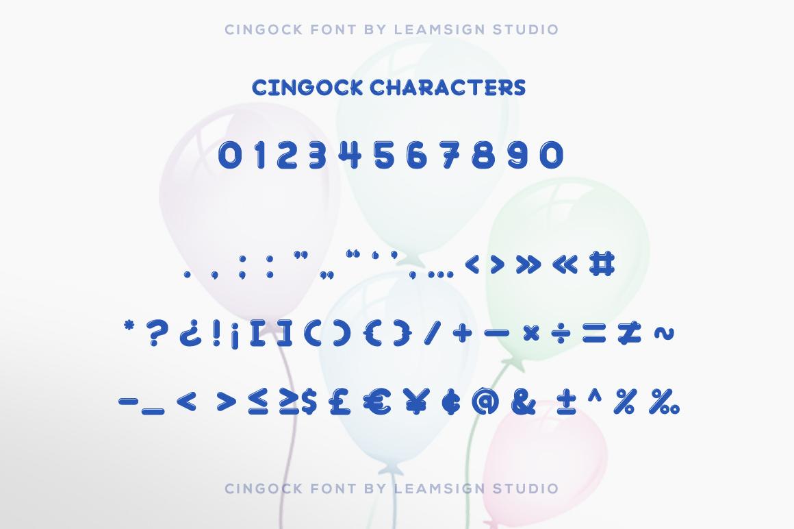 Cingock Font example image 6