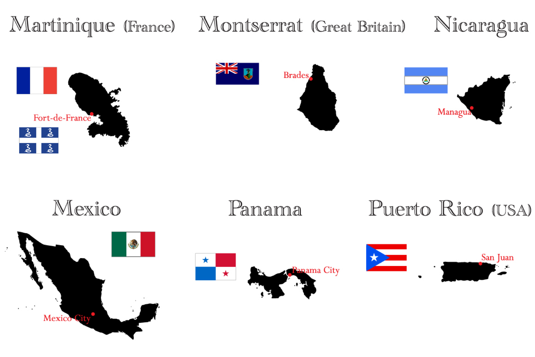 Countries of North and South America example image 3
