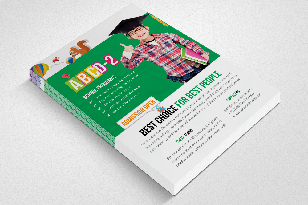 Kids Education Flyer Template example image 2