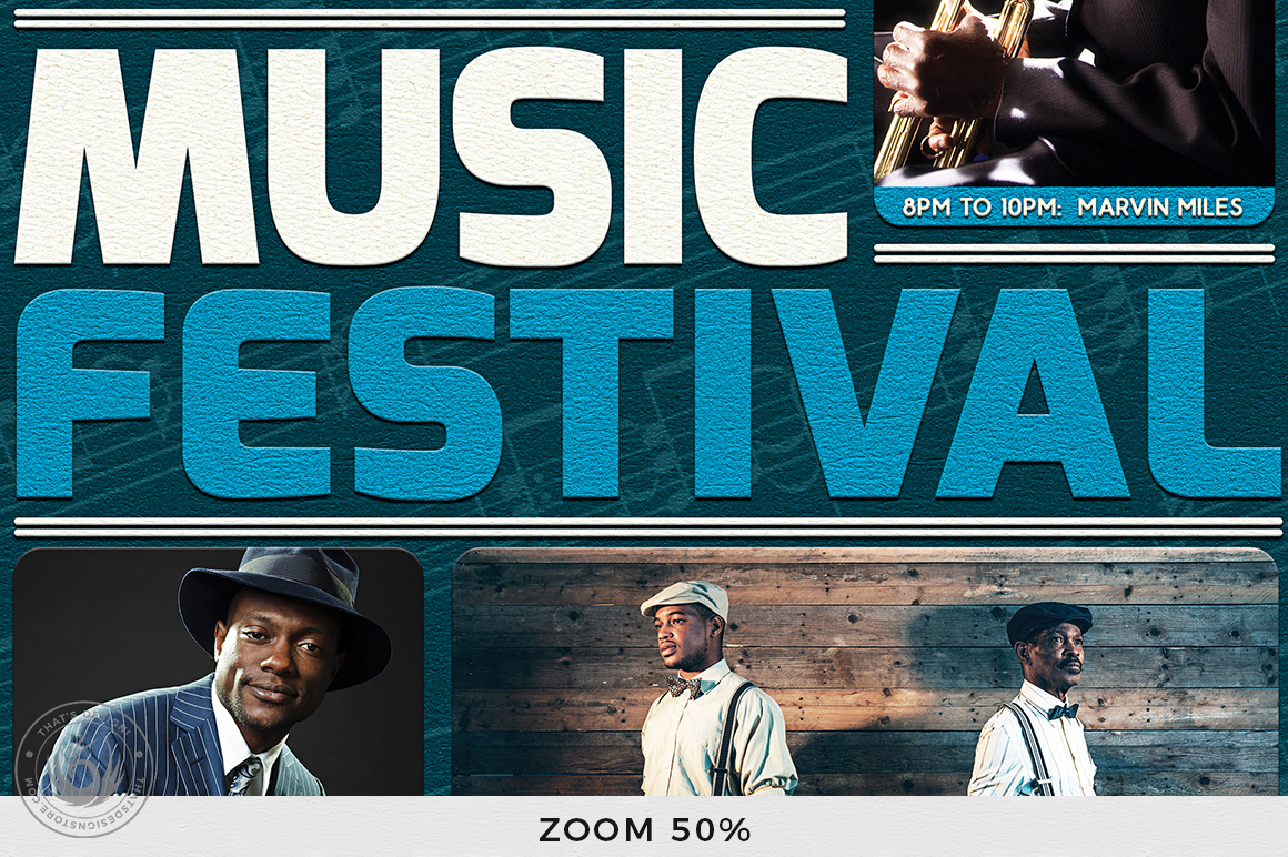 Music Festival Flyer Template V5 example image 7