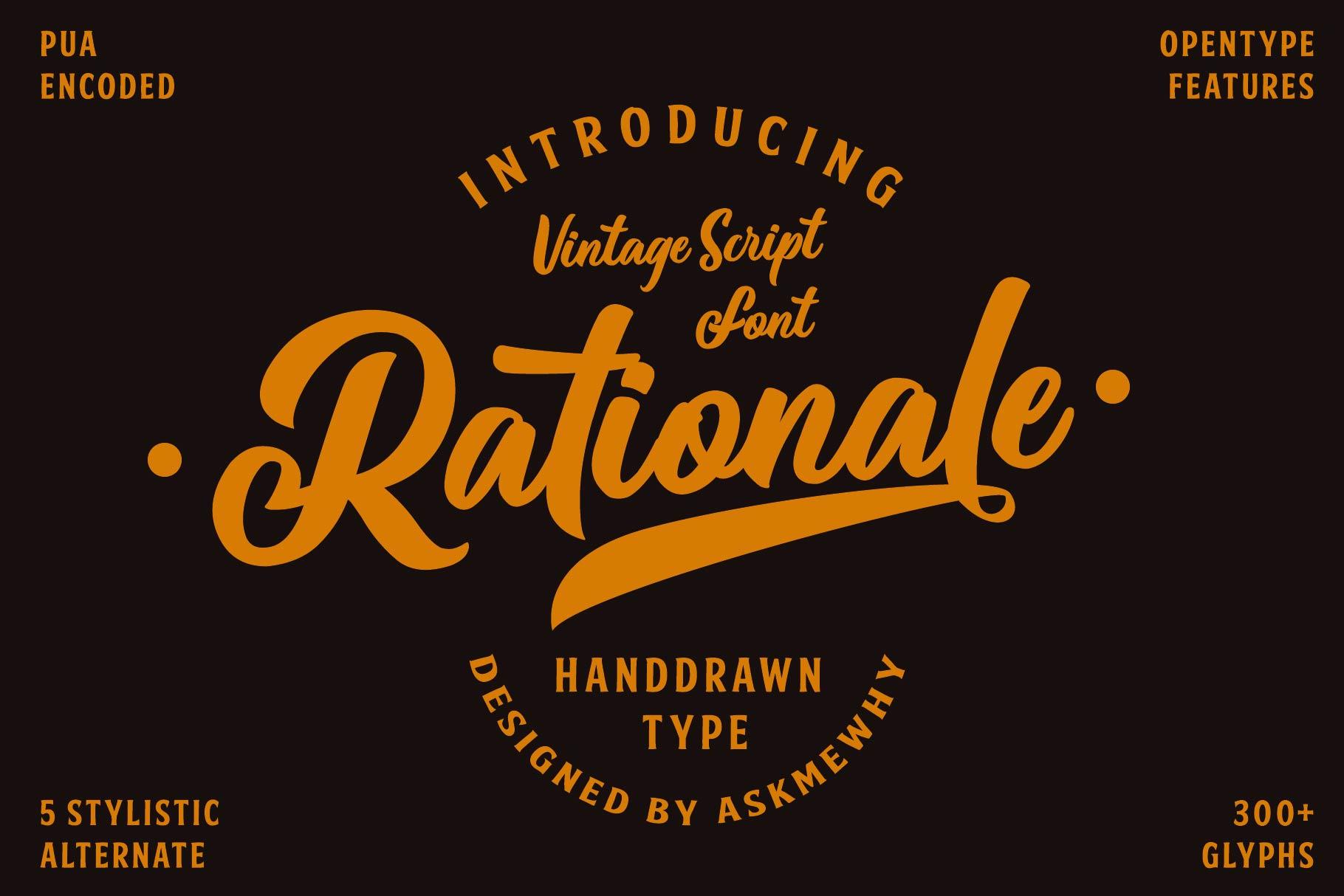 Rationale Vintage Script Font example image 1