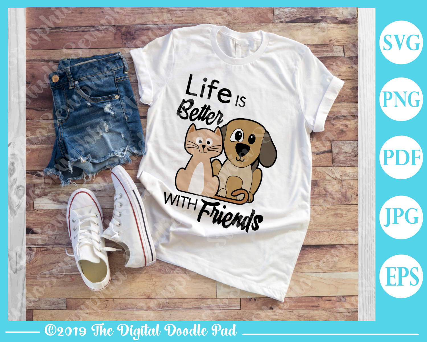 Life Is Better With Friends by Digital Doodle Pad example image 2