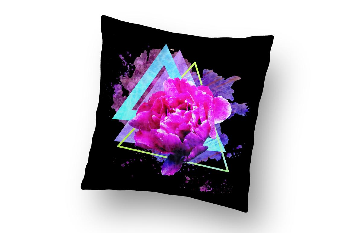 Trendy flower print. Adorable Peon. example image 2