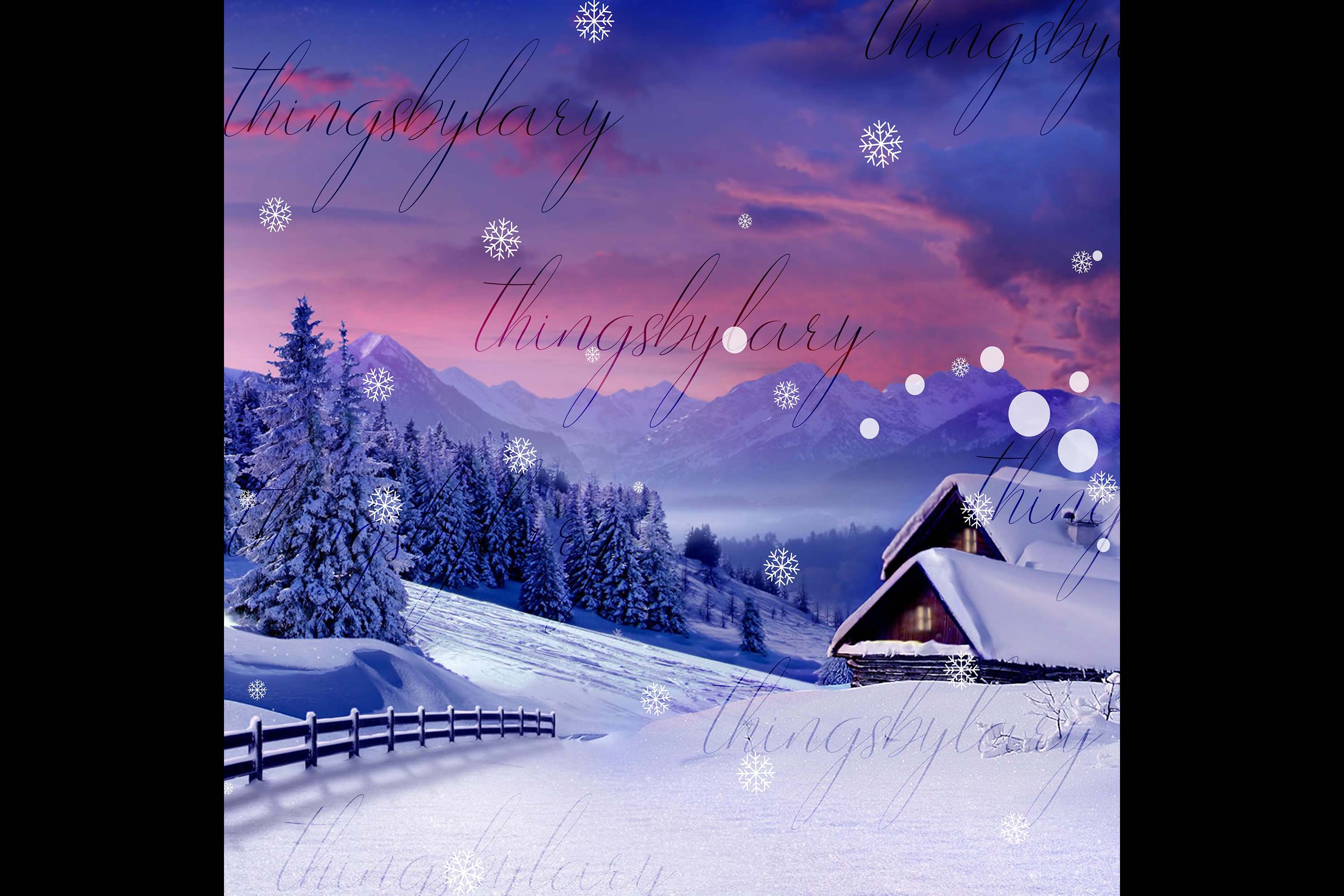 27 Falling Snowflakes Overlay Digital Images PNG Transparent example image 3