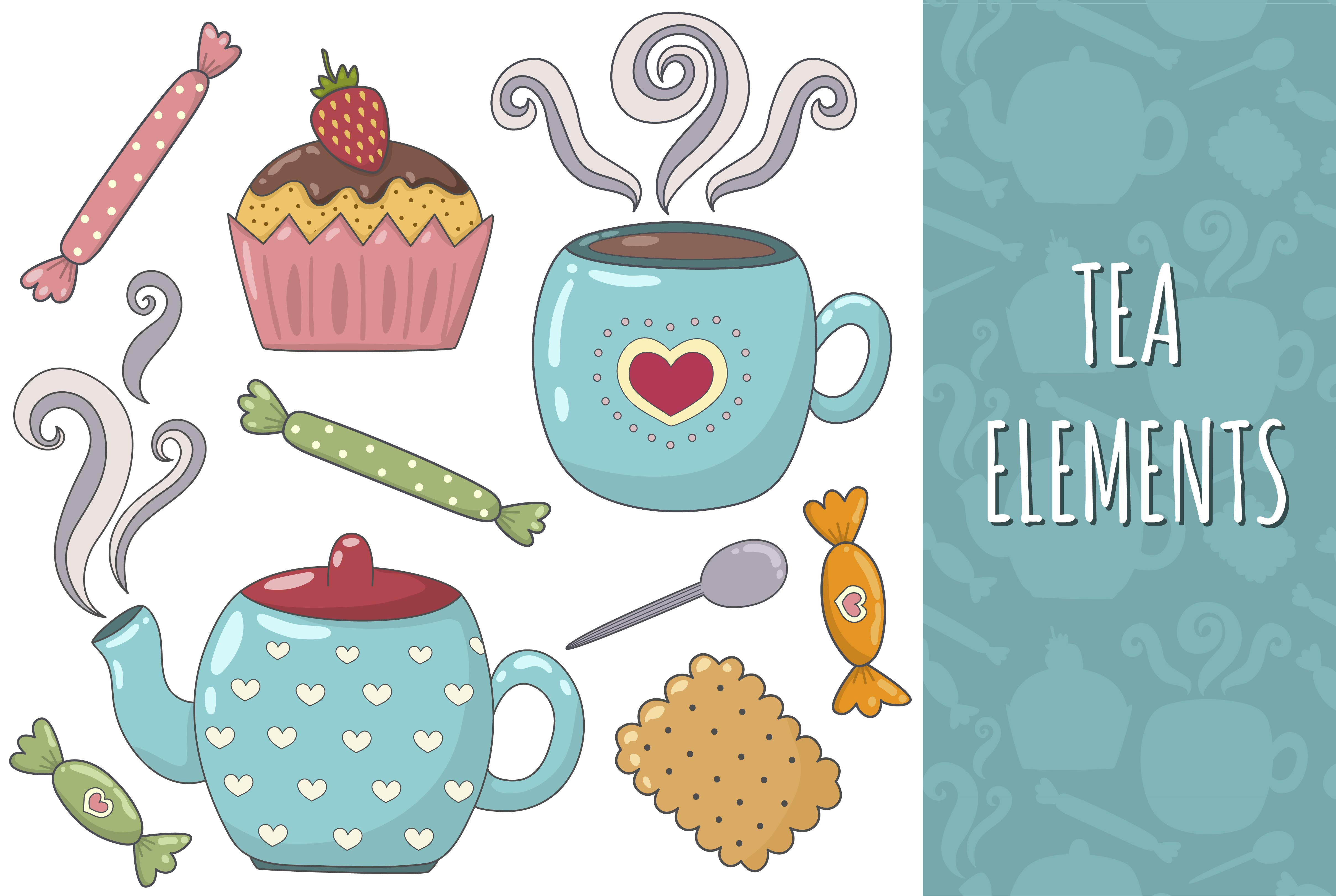 Tea Time: pattern & elements example image 5