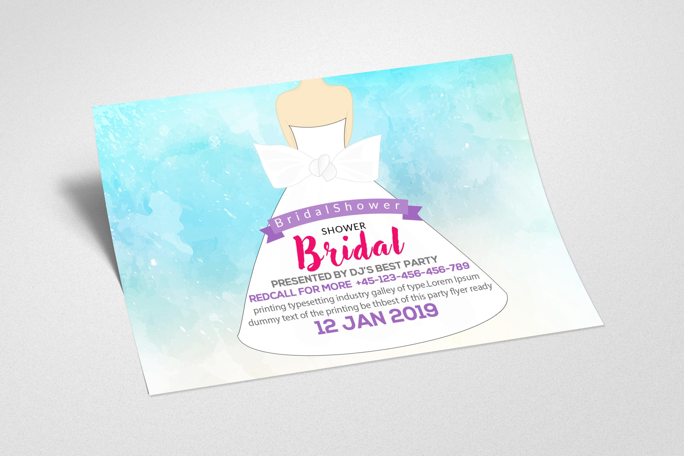 Bridal Shower Invitation Card example image 2