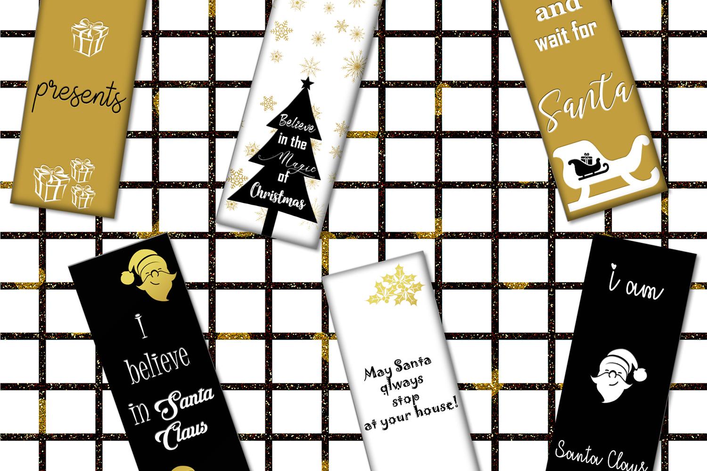 Christmas Digital Bookmarks,Christmas Printable,Christmas example image 1