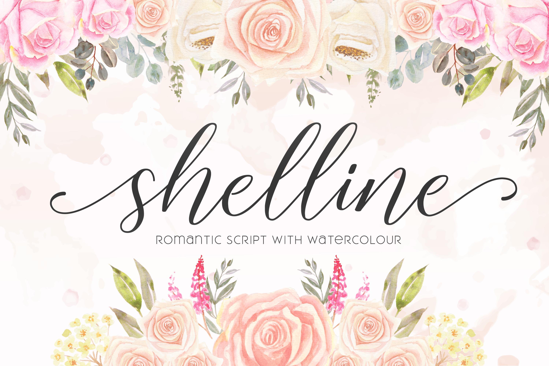 Shelline - Romantic Script example image 1