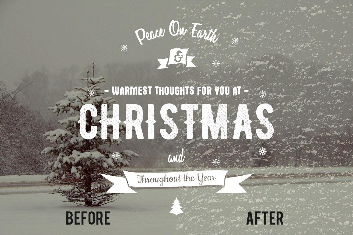 Christmas Photo Overlays & Textures example image 8