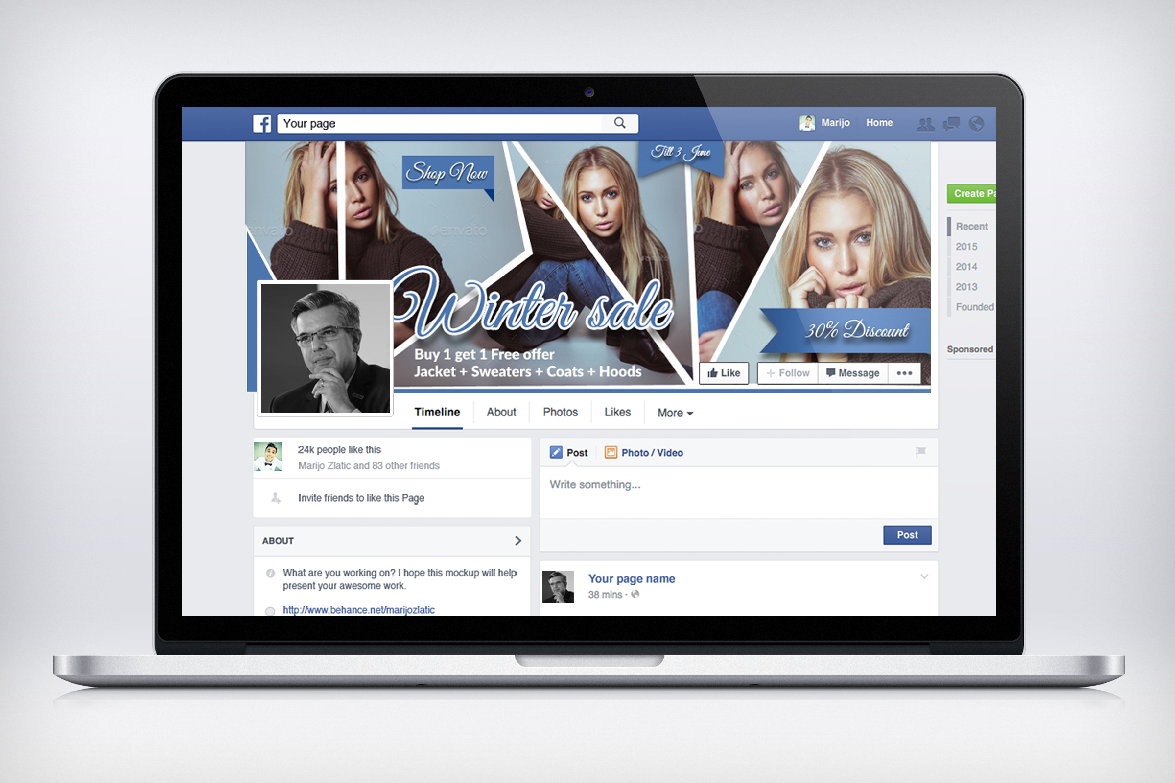 Creative Design Facebook Timeline example image 3