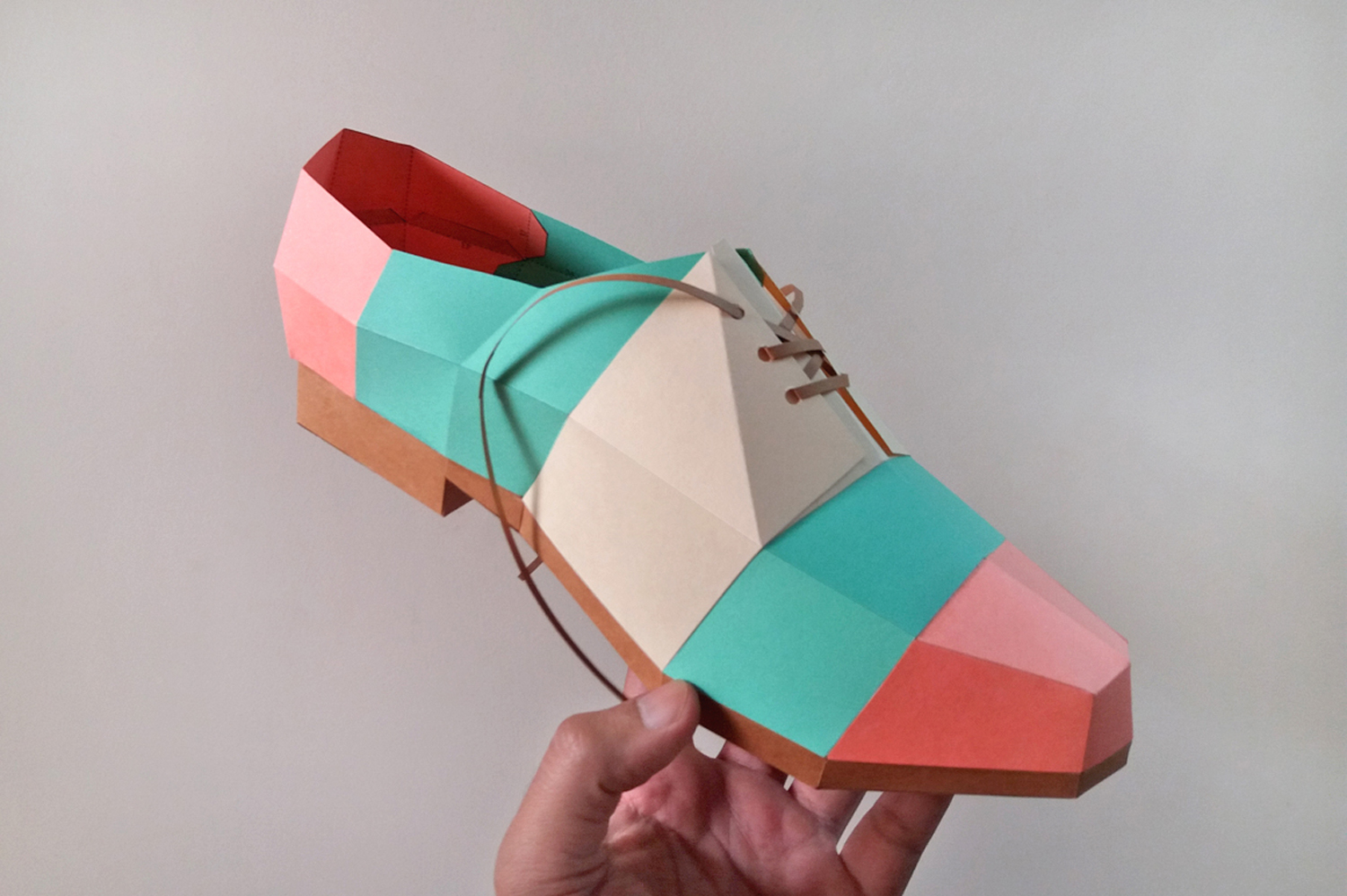 DIY Colorful Shoe - 3d papercrafts example image 3