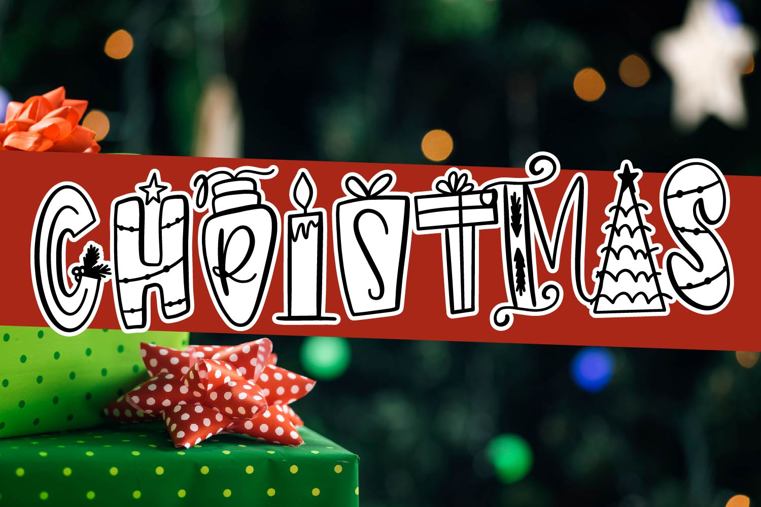Holiday Things - A Christmas Word Art Font! example image 7