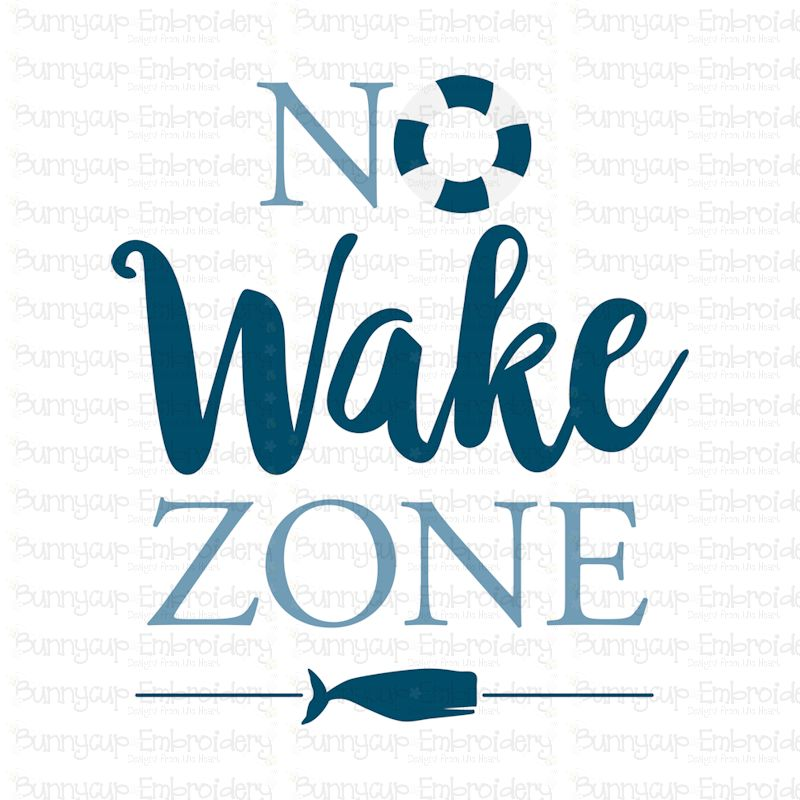No Wake Zone - SVG, Clipart, Printable example image 2