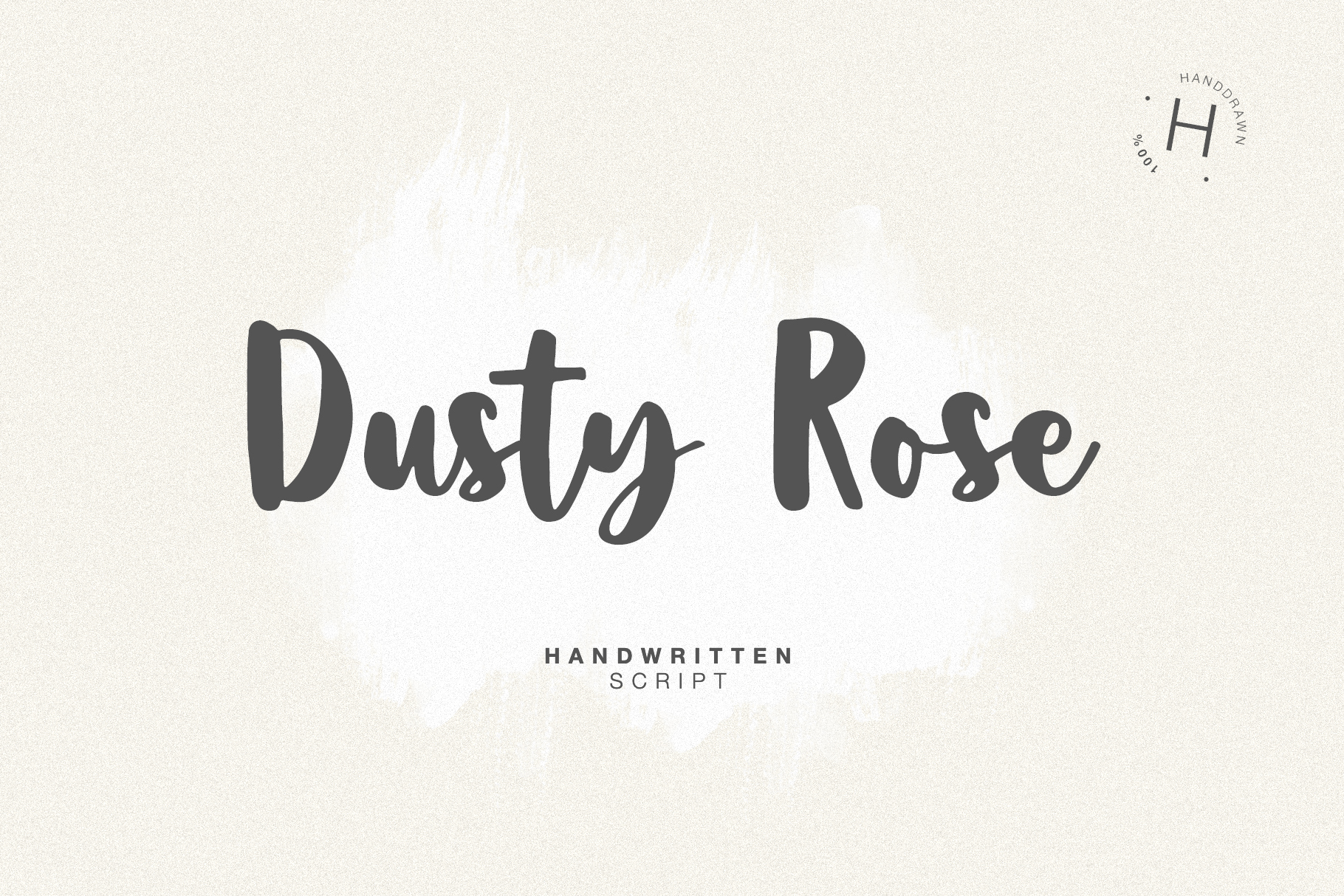 DUSTY ROSE SCRIPT example image 1