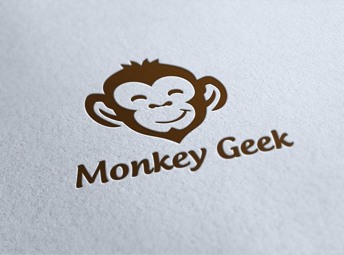 Monkey Geek vector logo design example image 2