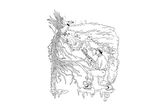Hunter and Pheasant Ukiyo-e example image 1