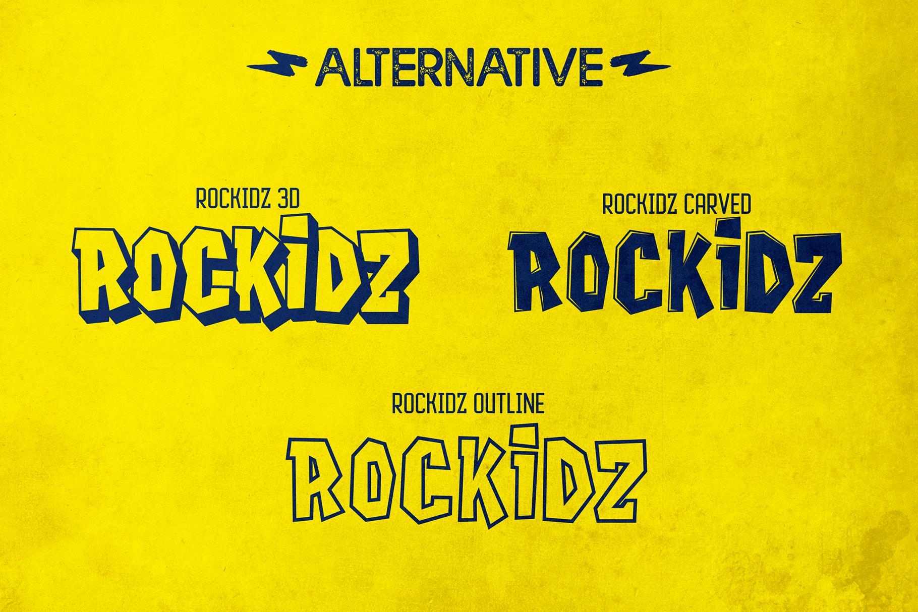 Rockidz // Layered Font Family example image 4