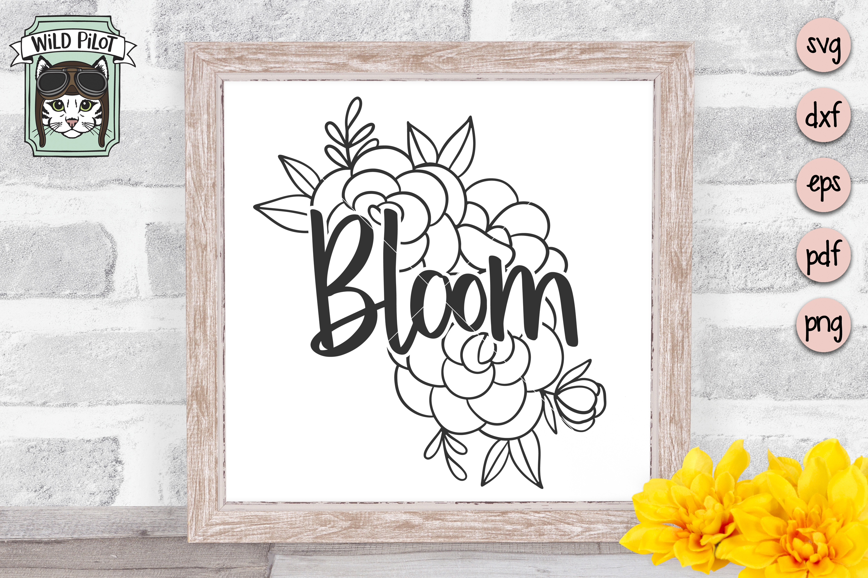 Bloom SVG file, Bloom cut file, Flowers, Floral, Religious example image 3