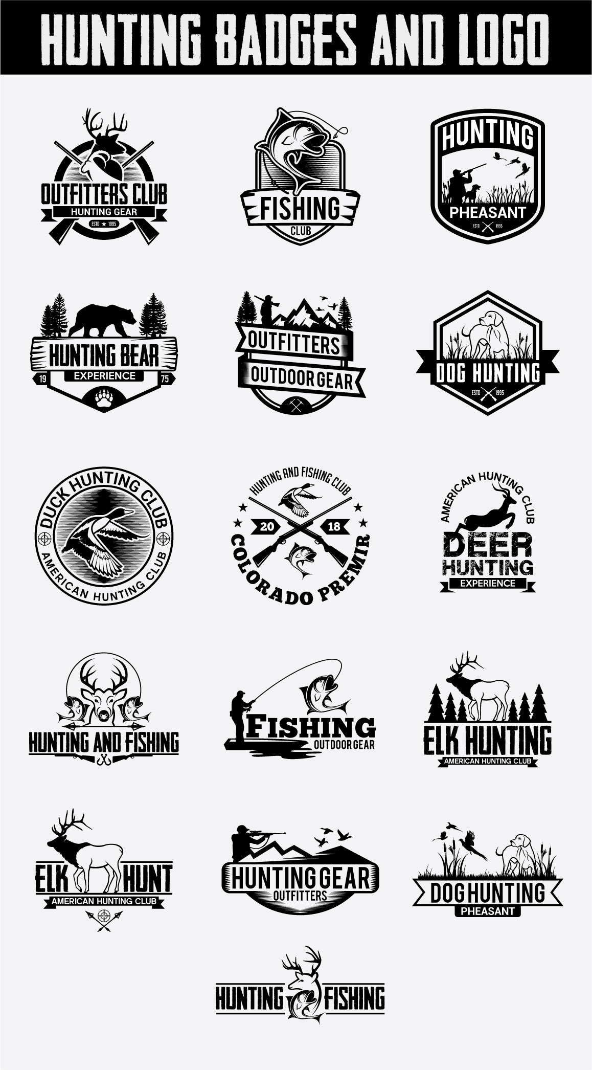 Hunting Vintage Badges and Logos example image 6
