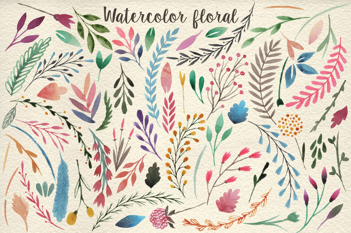 159 Watercolor flowers & florals example image 3