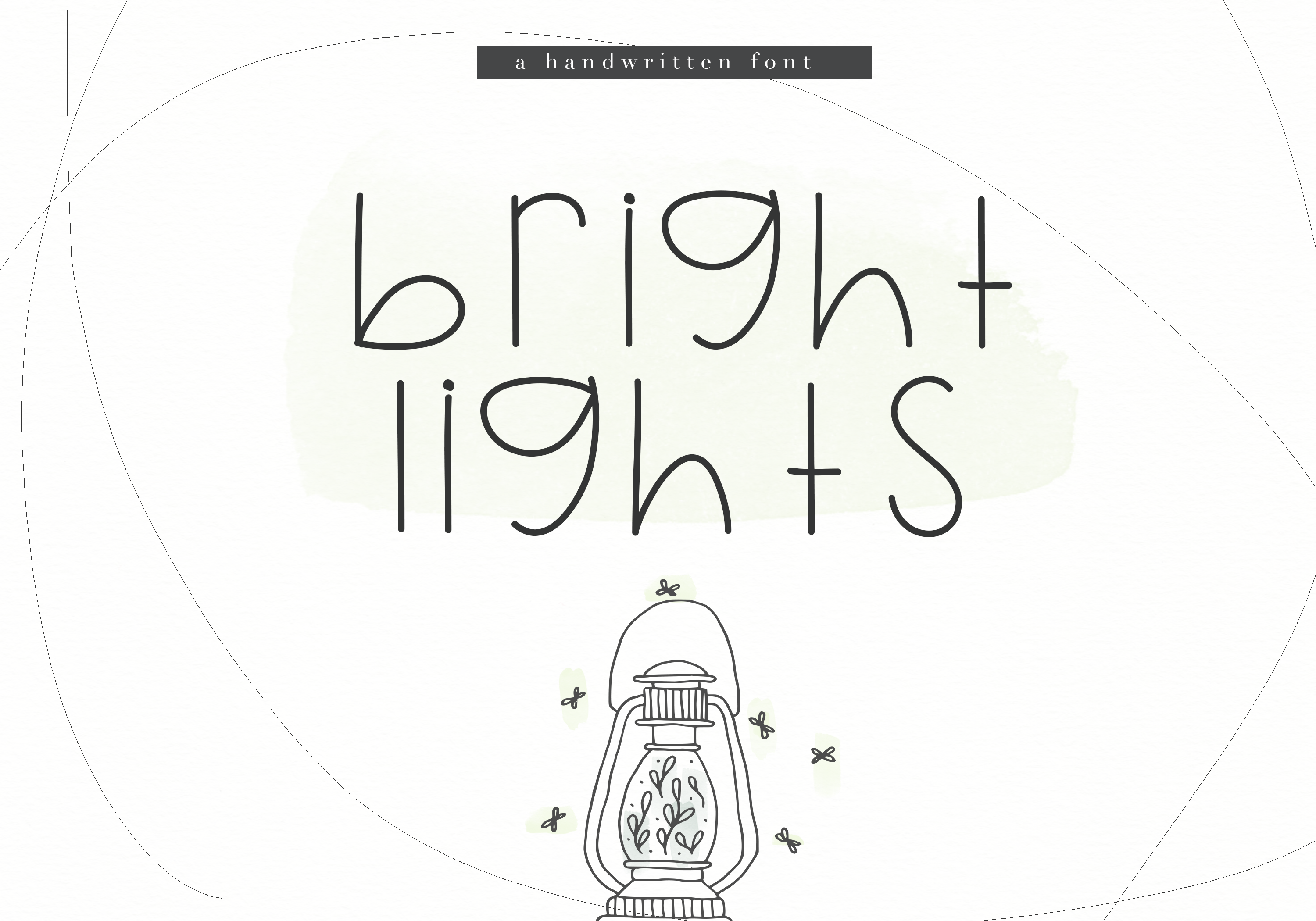 Bright Lights - A Cute Handwritten Font example image 1