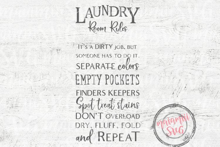 Laundry Room Rules SVG example image 1