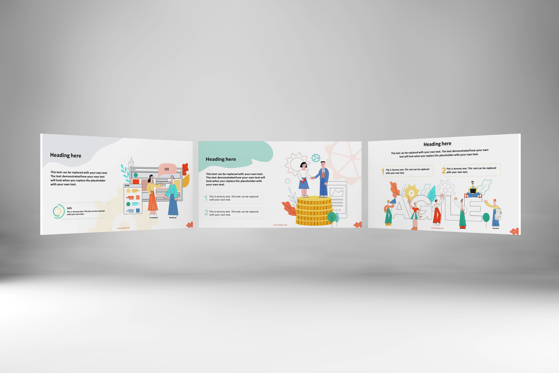 Happy People Set 2 Presentation Template example image 2