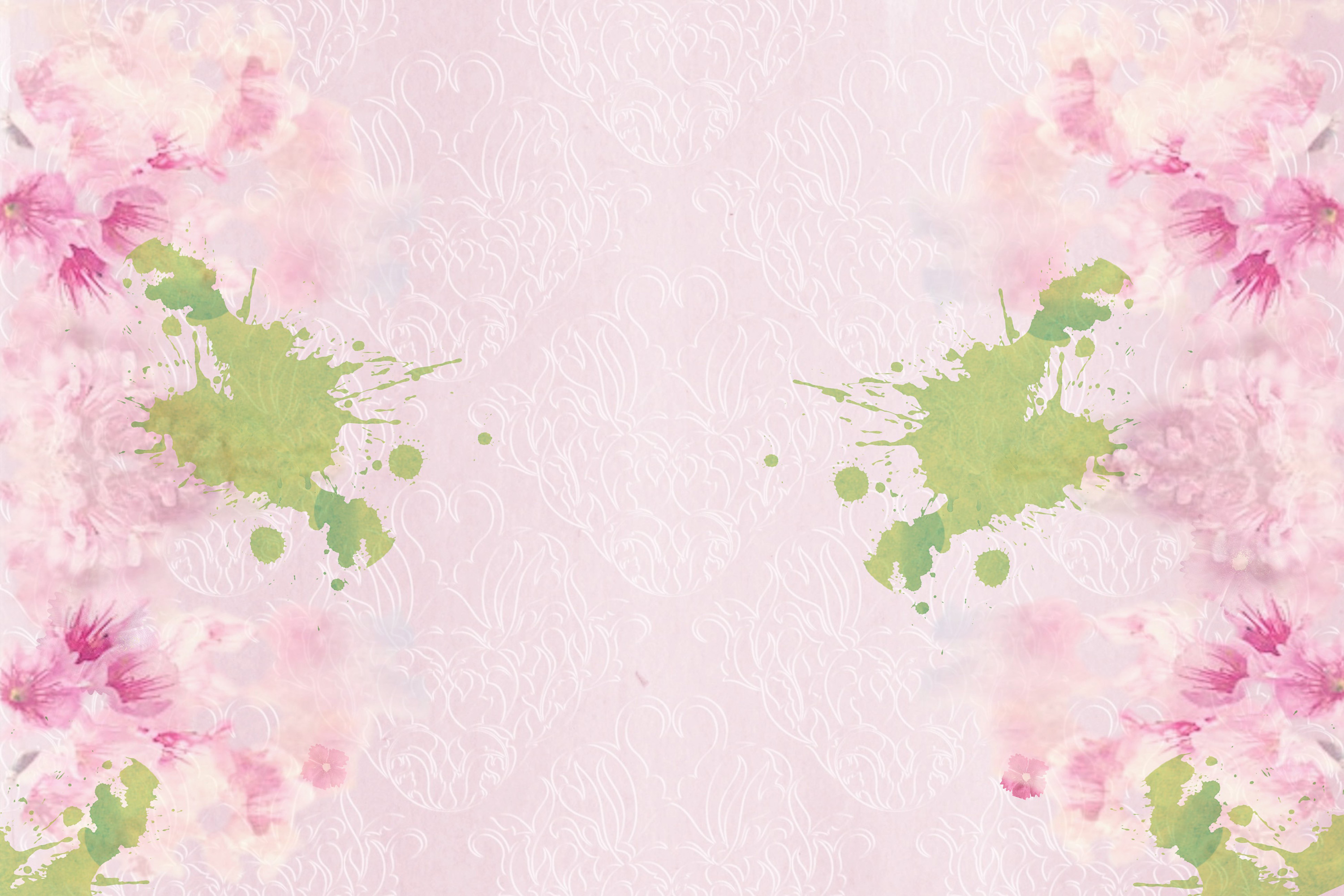 Watercolour Florals Journal Backgrounds 28 pages example image 3