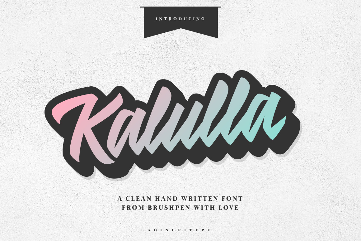 Kalulla Clean Hand Written Font! example image 1