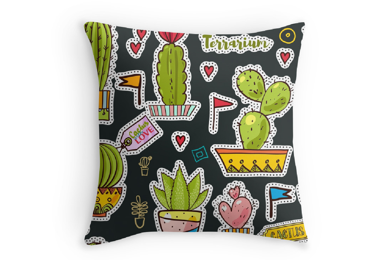 Set Fashion patches with cacti example image 4