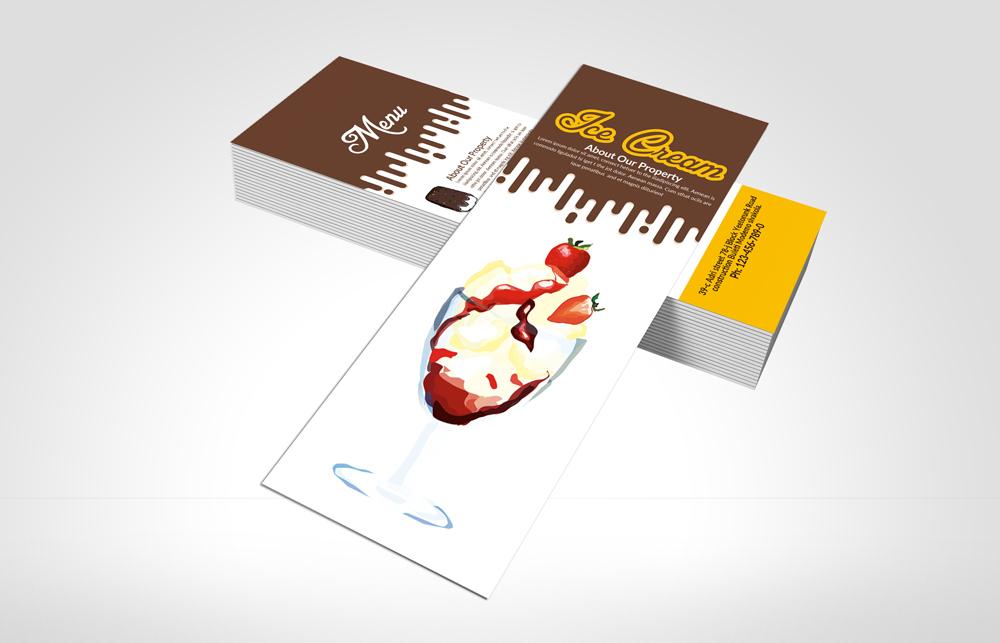 Ice Cream Shop Menu Rack Card example image 3