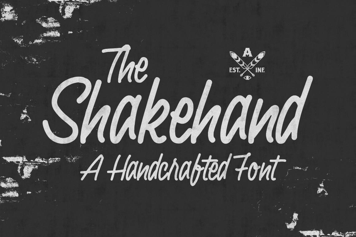Shakehand typeface example image 1