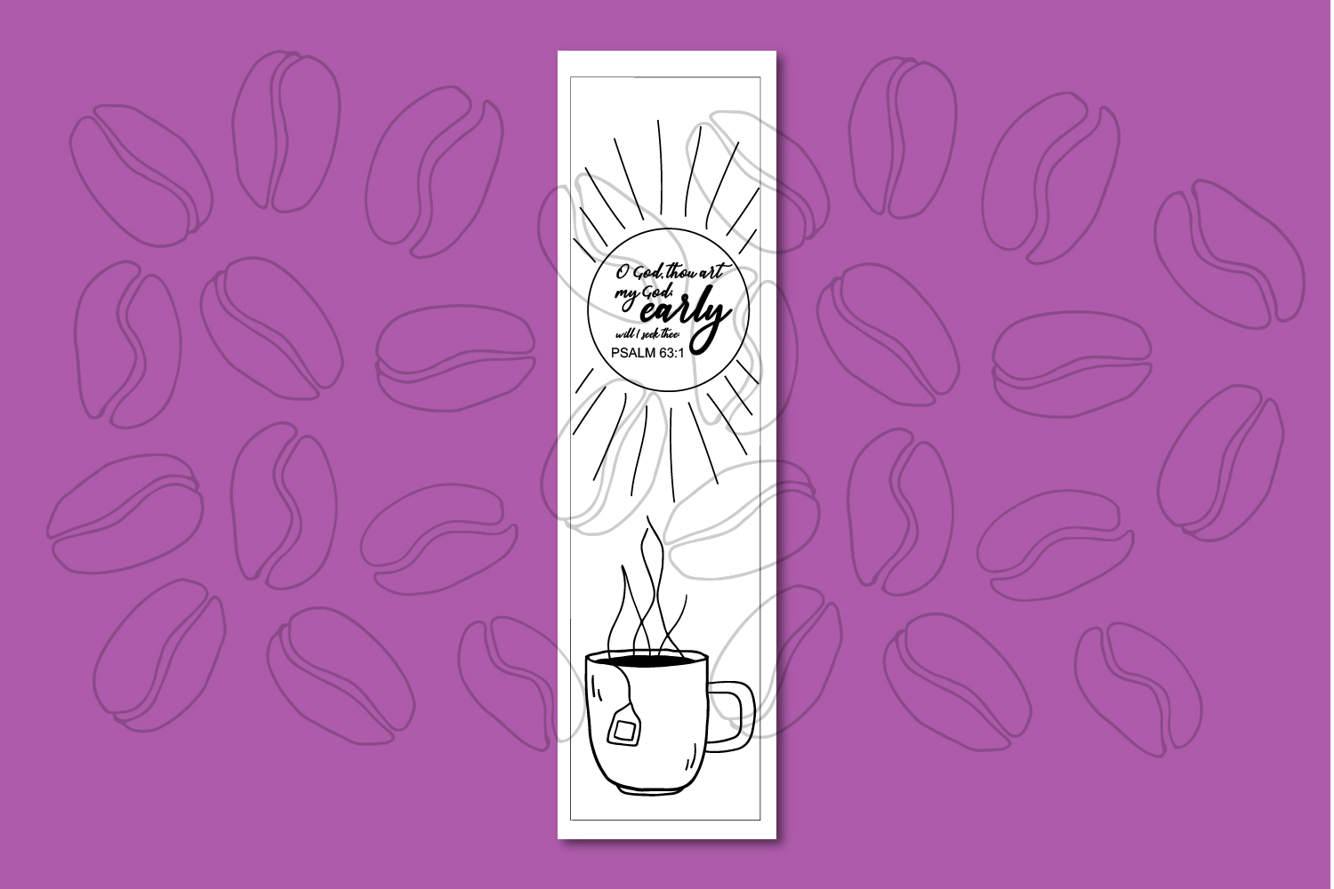 Printable Coloring page Coffee Themed Bible Verses example image 5