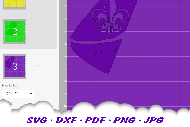Mardi Gras Fleur De Lis Lips SVG DXF Cut Files example image 2