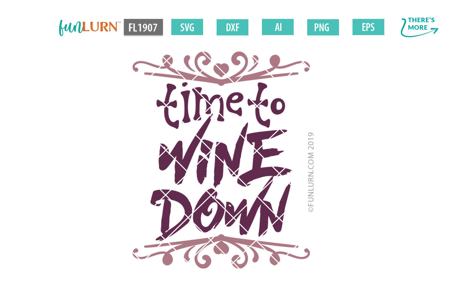 Time to Wine Down SVG Cut File example image 2