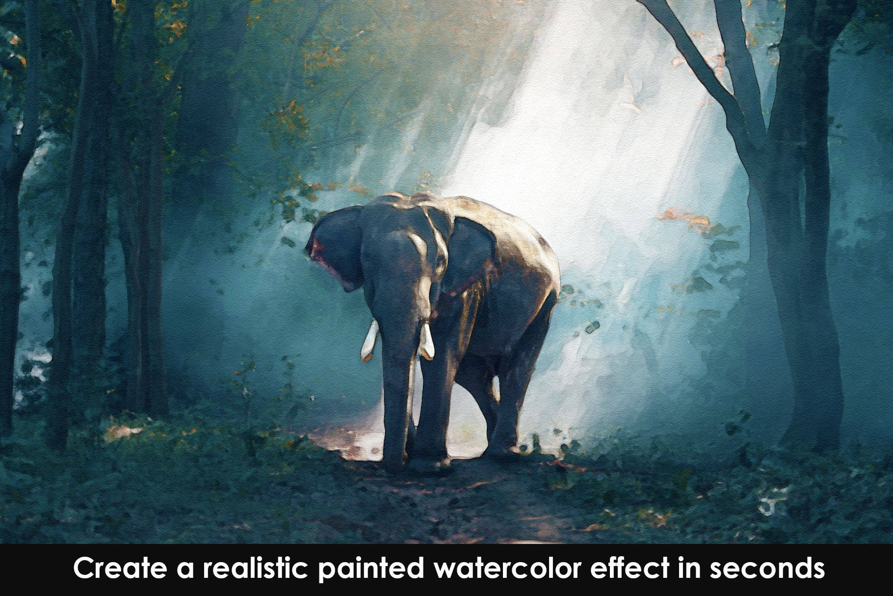 Watercolour Photoshop Action example image 8