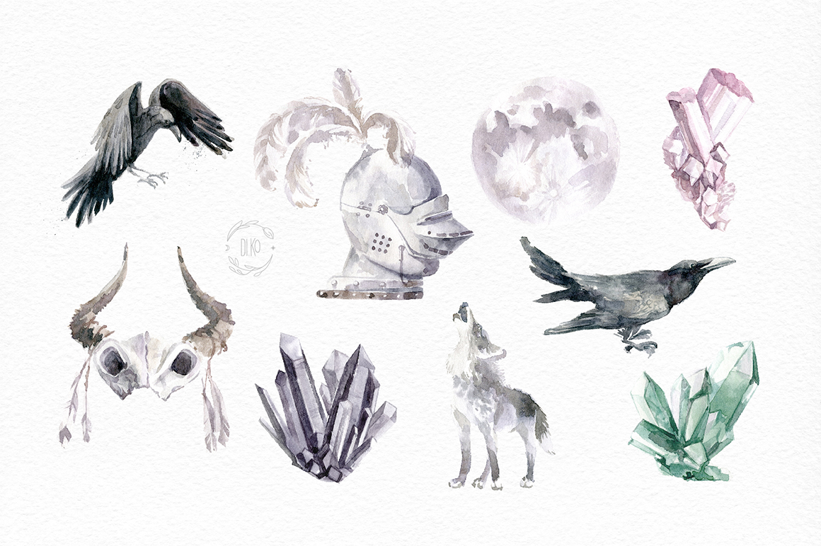 Gloomy fairytale graphic collection. example image 6
