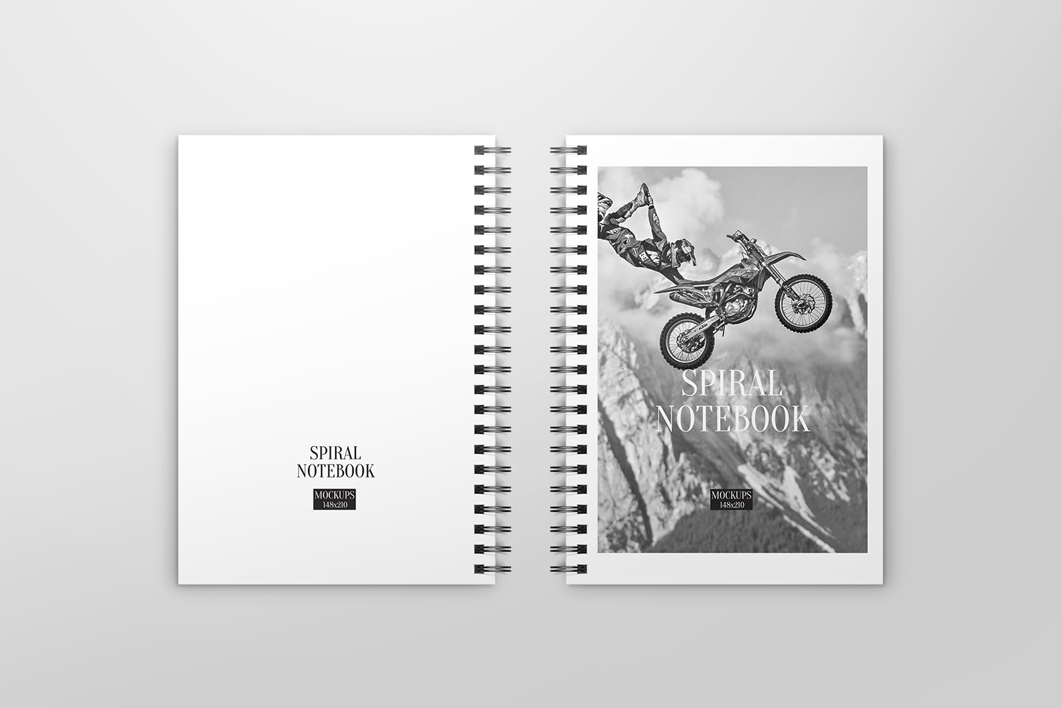 A5 Spiral Notebook Mockups example image 6
