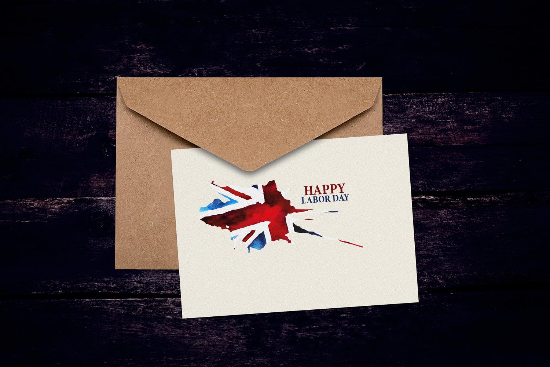Old British. Watercolor britain flag. United Kingdom. example image 4