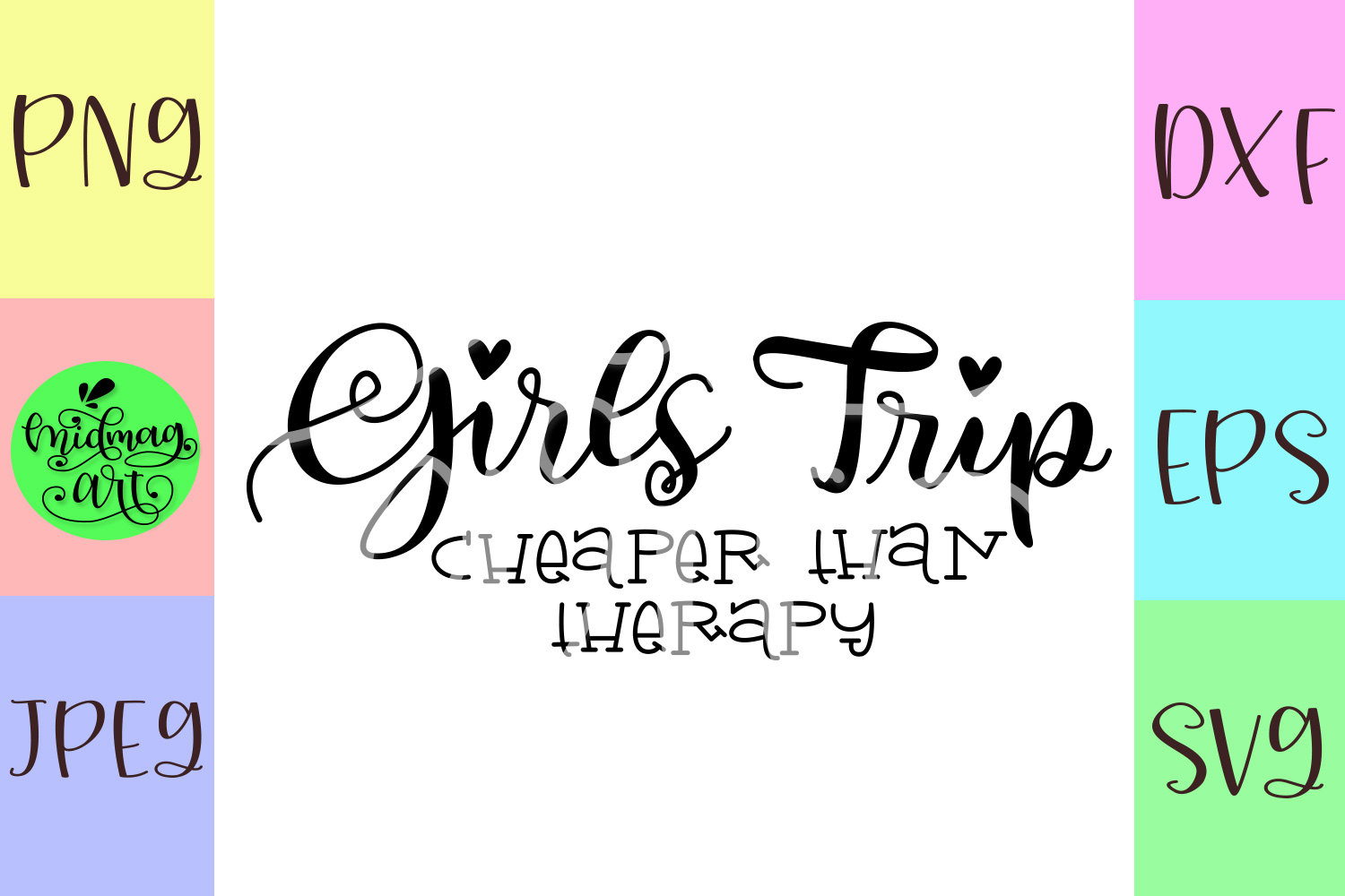 Girls trip cheaper than therapy svg example image 2