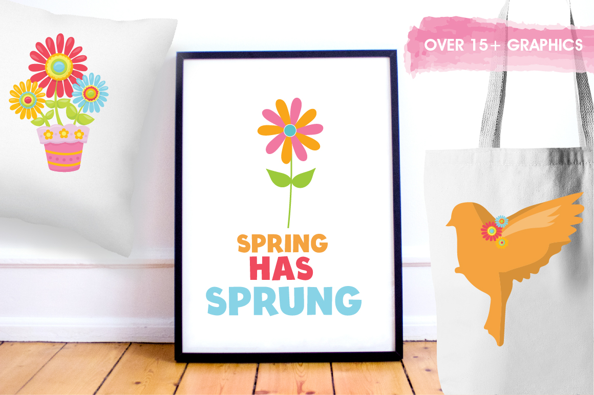 Spring Birds graphics and illustrations example image 5