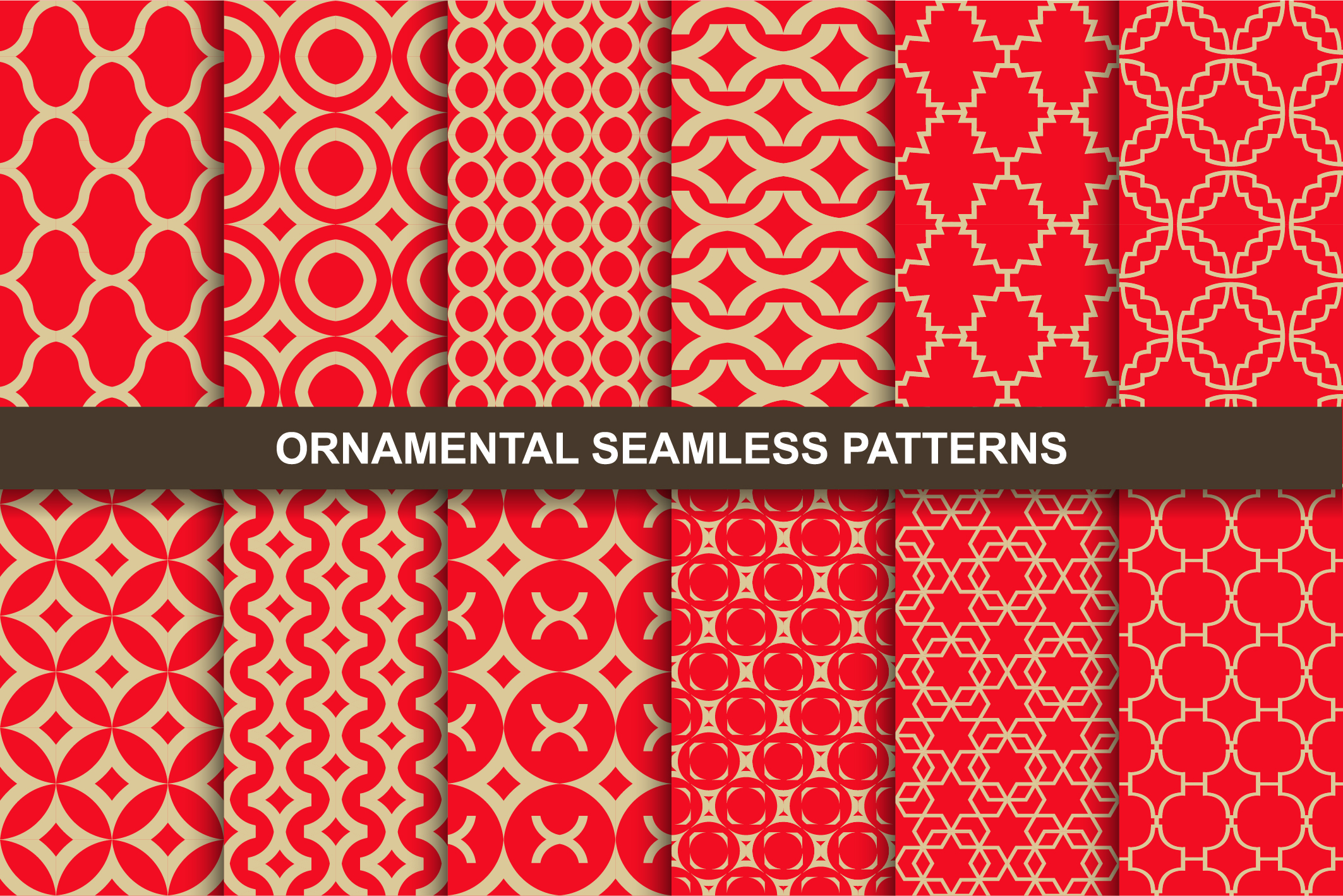 Luxury ornamental seamless patterns. example image 1