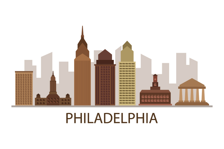 Philadelphia skyline example image 1